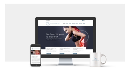 Conception site internet NOVA CHIRO