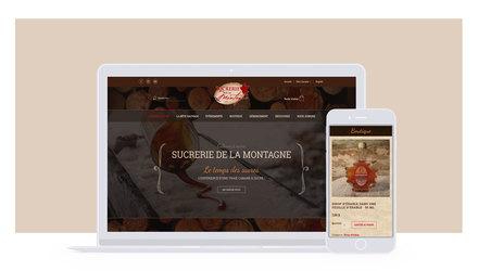Conception site web Sucrerie de la Montagne