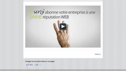 Site de l'agence avec vidéo de présentation