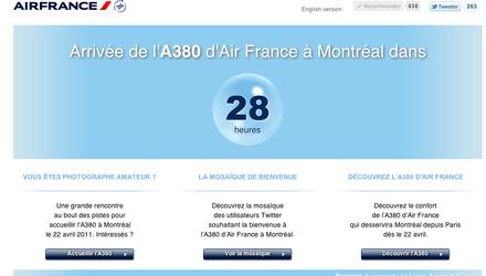 Air France - Arrivée de l'A380 à Montréal