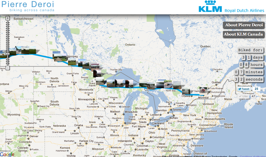 KLM Canada - Pierre Deroi across Canada