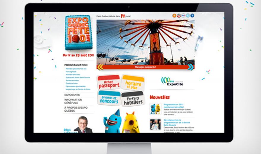 Site Web et version mobile du 100e d'Expo Québec