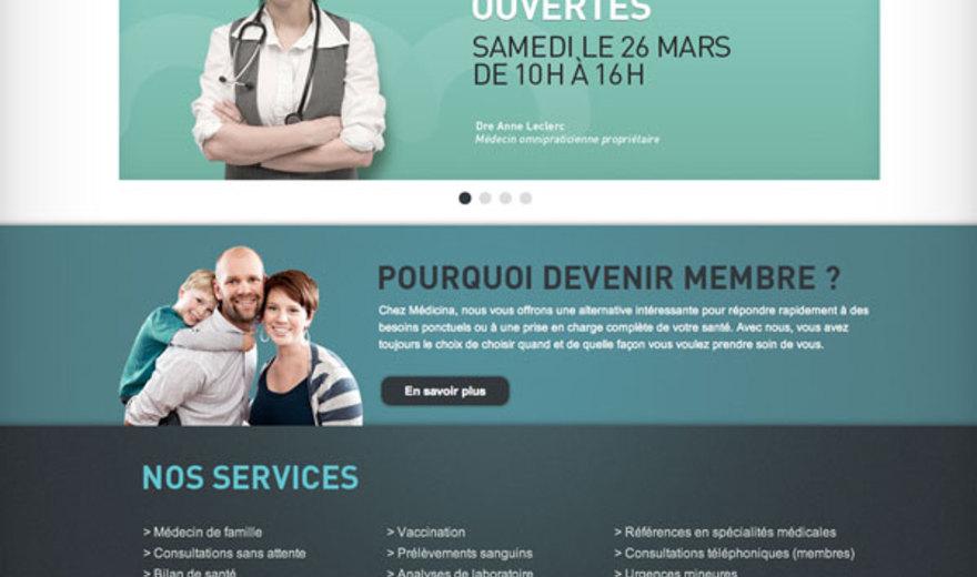 Site Web de la Clinique Médicina