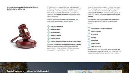 Site Jean Boyce Avocat