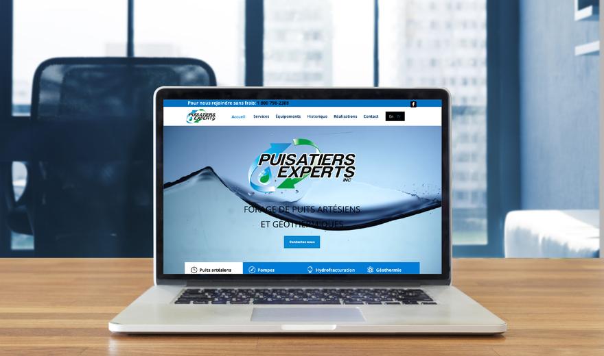 Conception Web pour l'entreprise Puisatiers Experts