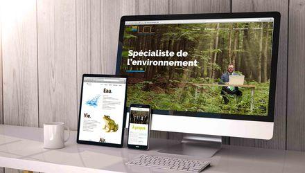 Photographie, Design et conception Web pour LCL Environnement