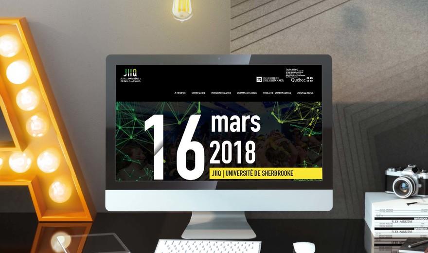 Design et conception Web pour Les JIIQ 2018