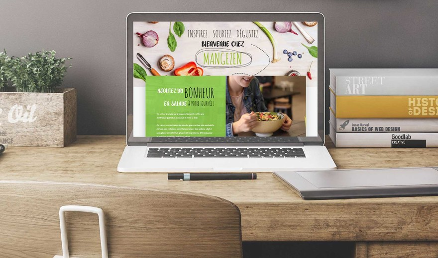 Conception et design Web pour MangeZen