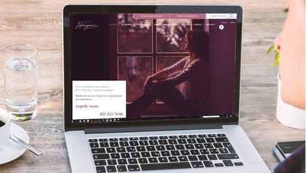 Conception et design Web pour l'organisme Horizon pour Elle