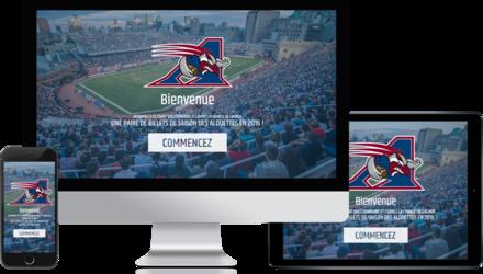 Création d'un site web pour les Alouettes de Montréal