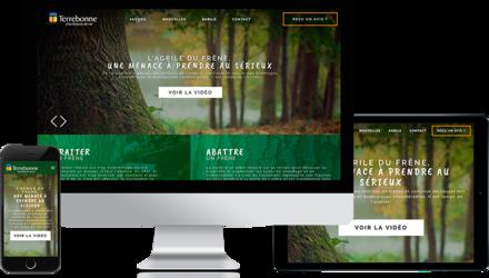 Création d'un site web pour la ville de Terrebonne
