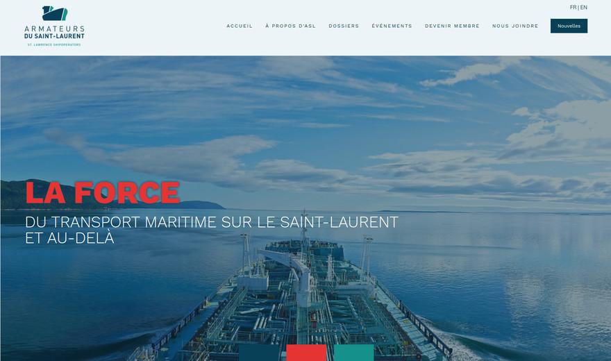 Site web Squarespace pour les Armateurs du St-Laurent