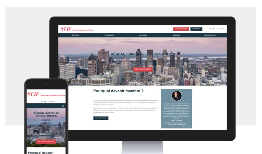 Refonte du site de Jeunes Canadiens en Finance