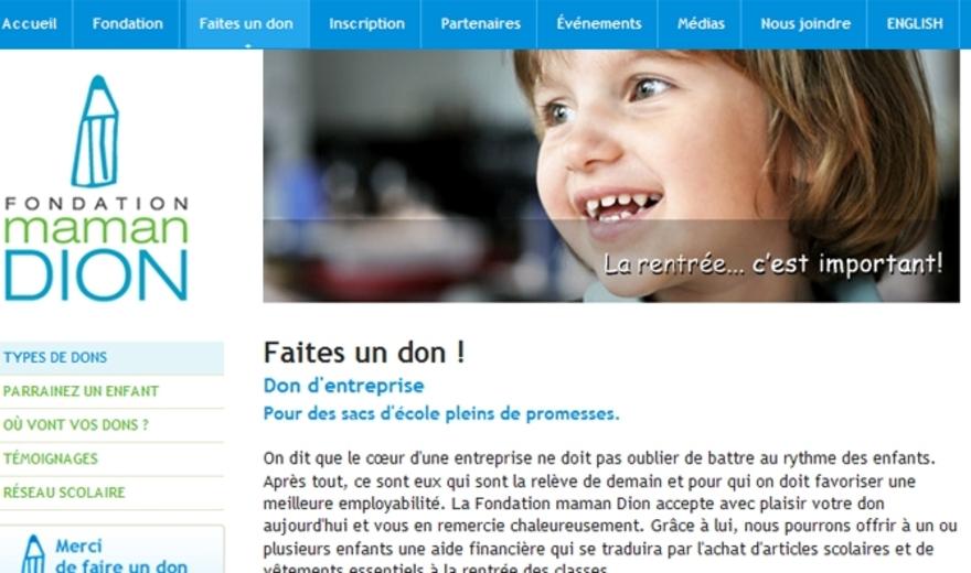 Site Internet de Fondation Maman Dion