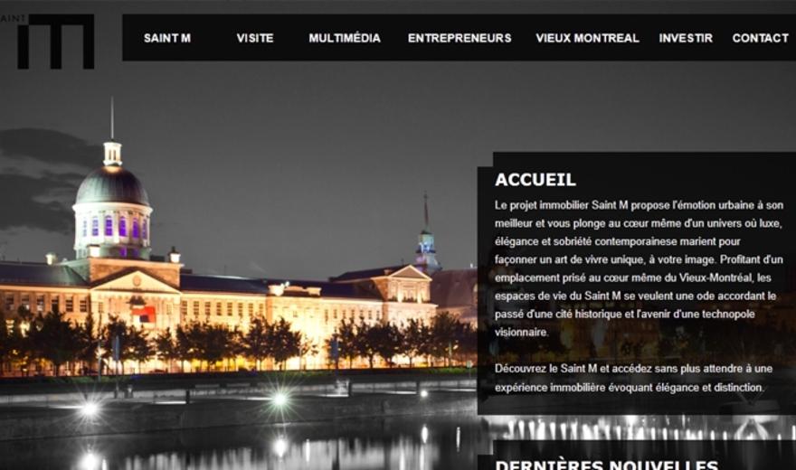 Site Internet des Condos Saint M