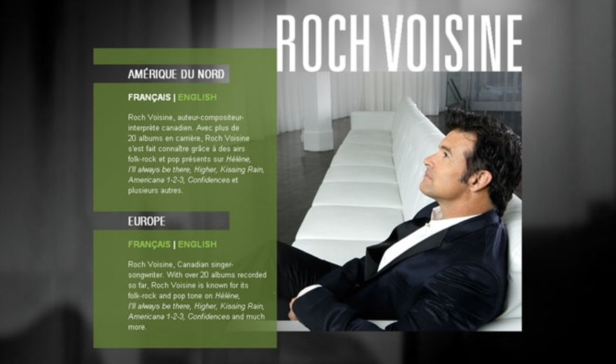 Site Internet de Roch Voisine