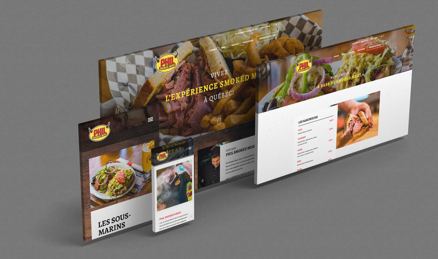 Phil Smoked Meat | Design + Plateforme Web