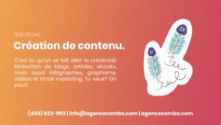 Solutions - Création de contenu