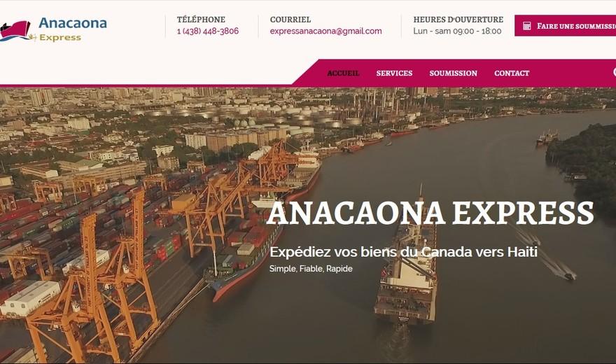 Anacaona Express - Refonte de site WEB + Hébergement WEB