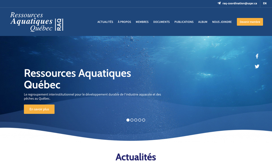 Ressources Aquatiques Québec