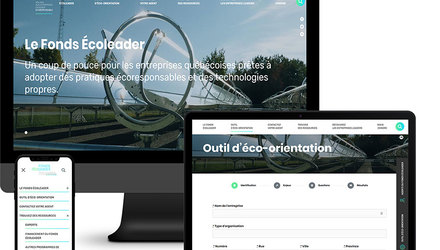 Site Web Fonds Écoleader