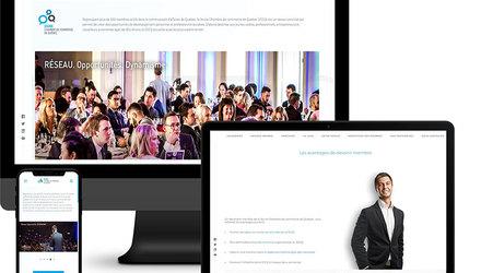 Site Web Jeune Chambre de Commerce de Quebec