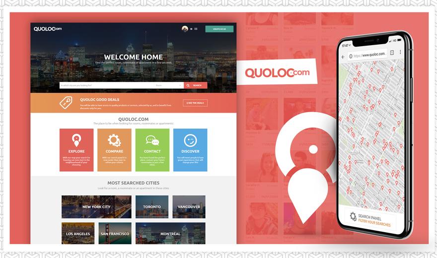 """Quoloc.com : Le """"Airbnb de la colocation"""""""