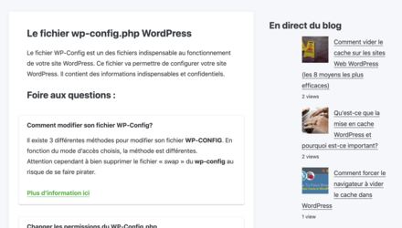 WP CONFIG | WordPress Cache Plugin