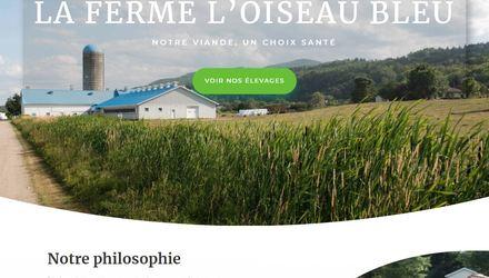 Site ecommerce - La Ferme l'Oiseau Bleu