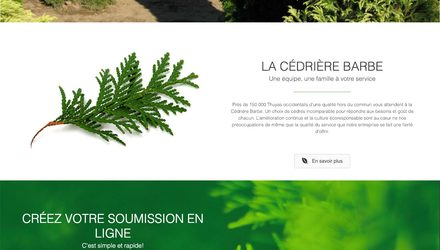 Conception site web laval - La Cédrière Barbe