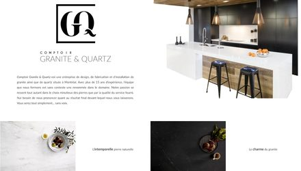 Conception Site web laval - Comptoirs granite & quartz