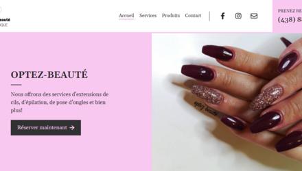 Optez-beauté - Site internet