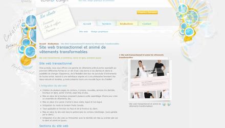 Conception de site web telorDesign