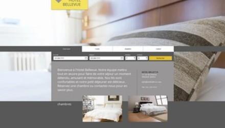 Modèle de site web hotel
