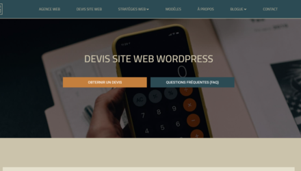Devis site web Wordpress