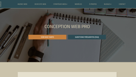 Conception site web