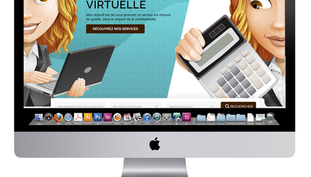 Conception site web adjointe administrative virtuelle