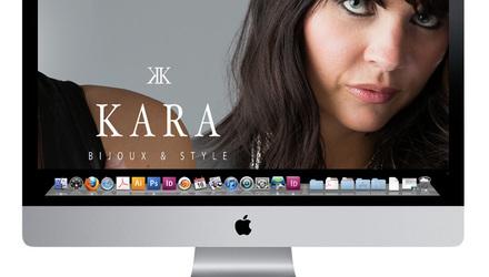 Conception site web Kara bijoux et style