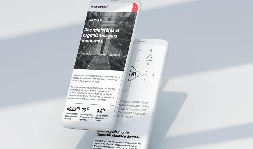 Momentum— site Web, design, outil de communication, et +