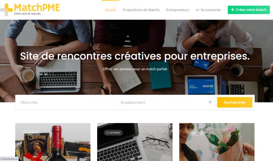 Matchpme.ca Site de rencontre pour PME