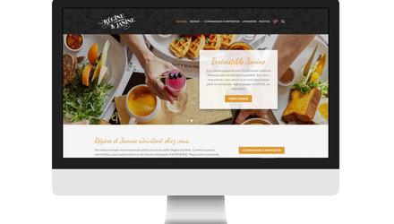 Projet de site et boutique bilingue Régine Café