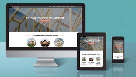 Site web pour compagnie de contstruction