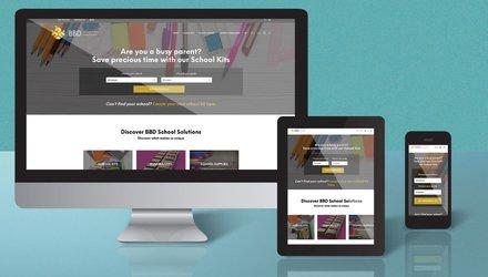 Conception Web pour entreprise de trousse scolaire