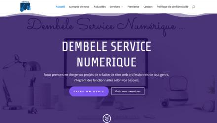 Site officiel de Dembélé Service Numérique