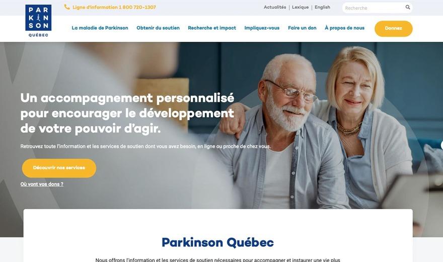 Conception de site Web à Montréal - Parkinson Québec