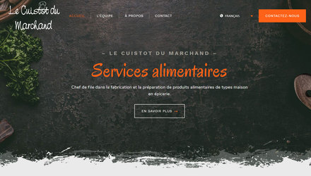 Conception de site Web - Le cuistot du marchant