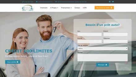 Site web de Crédit 100 Limites
