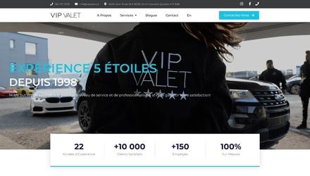 Site web de VIP Valet