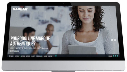 Nadeau Branding - Conception du site Web
