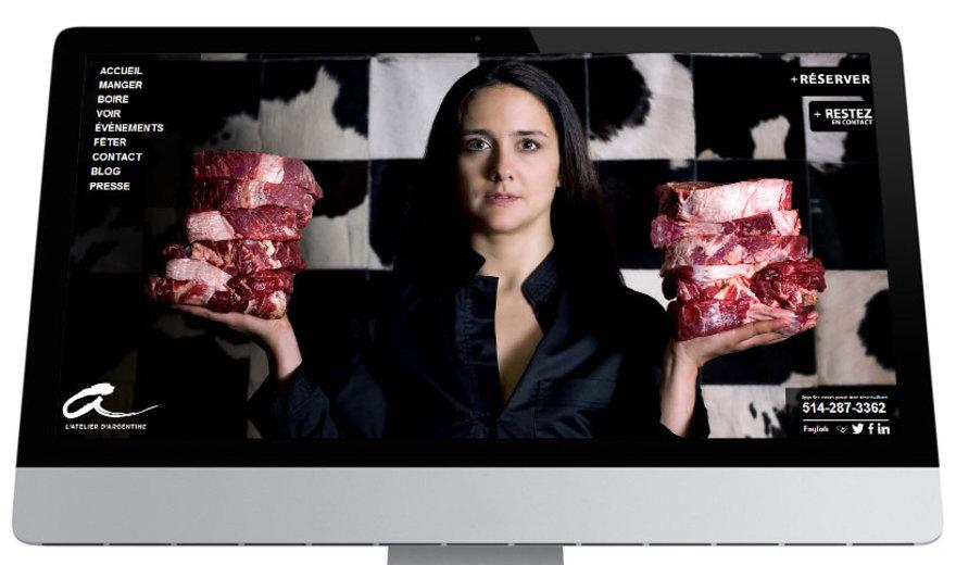 L'Atelier d'Argentine - Design site web